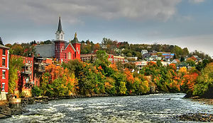 English: Fall foliage - Berlin, New Hampshire ...