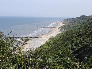 Cromer beach, Norfolk, UK, East of town Taken ...