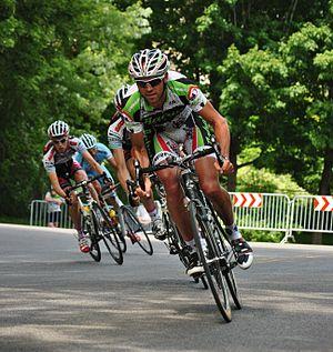 A participant in Tour de Beauce cycli...