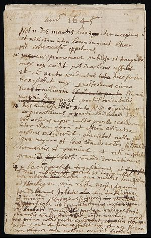 English: First page of an eight-page diary kep...