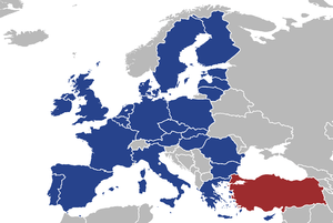 Map of the European Union (27) with the Republ...