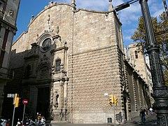Iglesia de Belén en Barcelona.