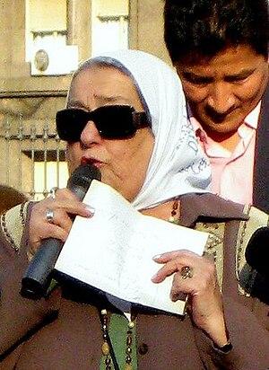 English: Argentinian activist in , , Argentina...