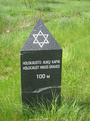 Holocaust mass graves near city of Jonava.
