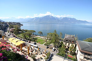 Lake Geneva from Montreux