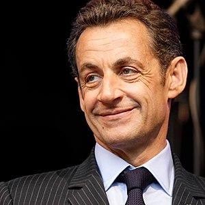 This image shows Nicolas Sarkozy who is presid...