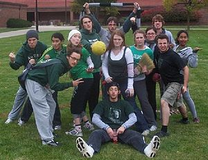 Photo of the Slytherin Muggle Quidditch team a...