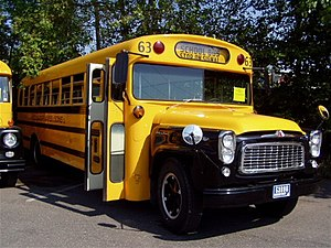 1961 Thomas International school bus. Photo co...