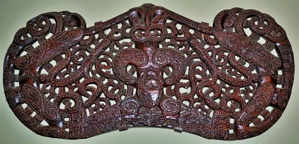 Canterbury Museum, Christchurch - Joy of Museums - Maori Pare - Lintel from a Maori Meeting House