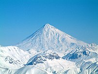 Mount Damavand in winter, Iran.