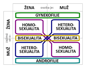 Sexual orientation diagram.