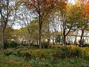 New York City's East River Park in Manhattan's...