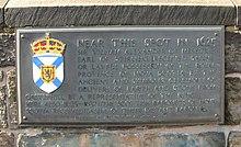 Photo of a bronze plaque