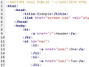 HTML Wikipedia