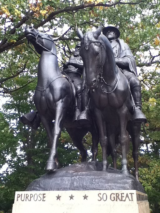 Jackson and Lee Monument, Front