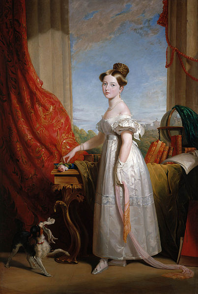 Victoria with her spaniel Dash, 1833. Painting by George Hayter.