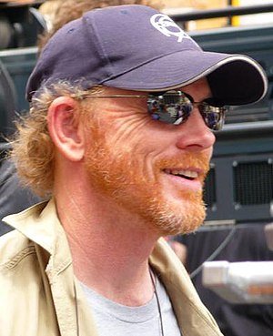 Ron Howard during filming of Angles and Demons...
