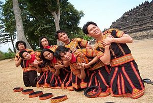 Saman dance, from Aceh, here performed in Boro...