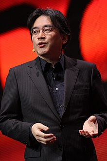 Satoru Iwata presenting at the Game Developers Conference in 2011