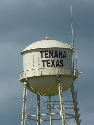 English: Tenaha, Texas Water Tower