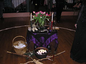 Altar for Reading Pagan's & Witches Imbolc Gat...