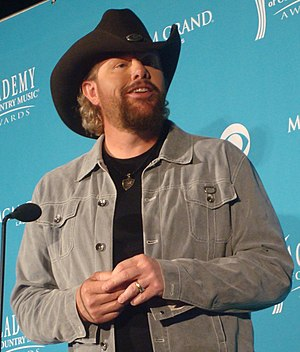Toby Keith at the 45th Annual Academy of Count...
