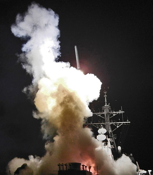 File:USS Barry (DDG-52) launching a Tomahawk missile in support of Operation Odyssey Dawn - Cropped.jpg