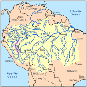 This is a map of the Amazon River drainage bas...