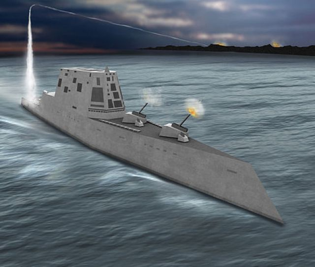 The Zumwalt Class Tumblehome Hull Is Derived From That Of The Dd 21