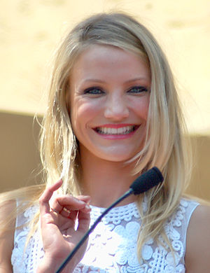Cameron Diaz receiving her star on the Hollywo...