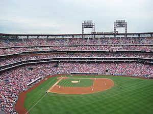 English: Citizens Bank Park view from Pavilion...