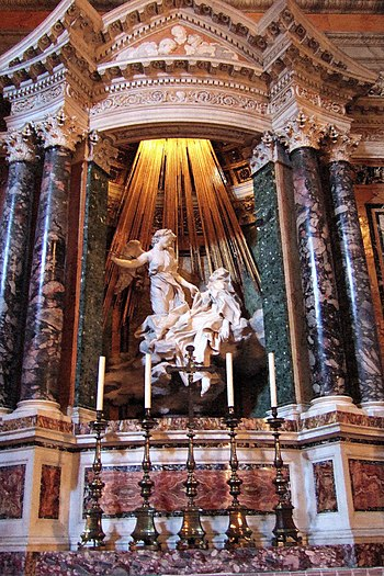 Ecstasy of St Theresa, 1652, by Gianlorenzo Be...
