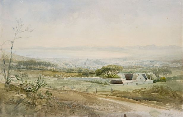 Heinrich Hermann - Cape Town from the Top of Kloof Street - Google Art Project