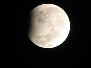 English: Partial Lunar eclipse
