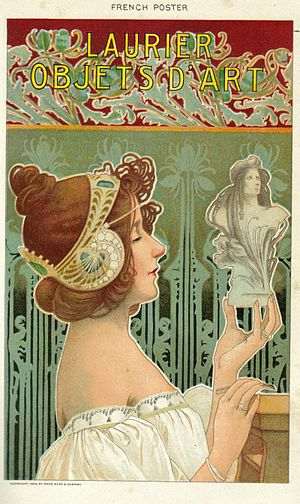 "Painting : French poster ""Laurier Objets ..."