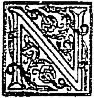 "Illuminated initial ""N"" from The New..."