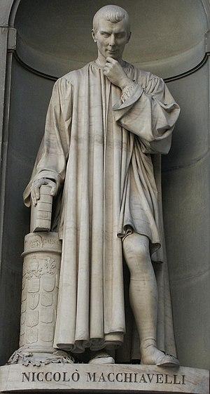 Italiano: Statua di Niccolò Machiavelli, opera...