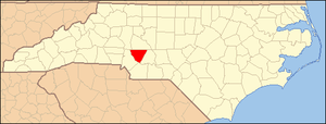 Locator Map of Cabarrus County, North Carolina...
