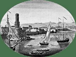 An illustration of pre-1692 Port Royal
