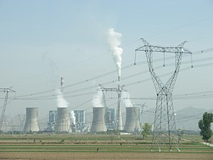 Photo of a coal-fired power plant in Shuozhou,...