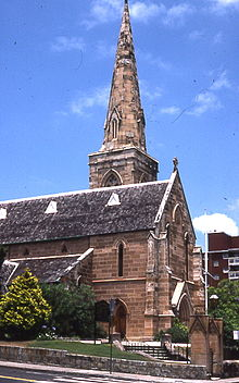 St Mark's Church, Darling Point, (1848-70) is in the Early English Gothic style.