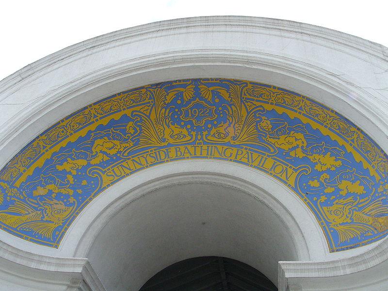 Toronto's Sunnyside Bathing Pavilion, archway detail
