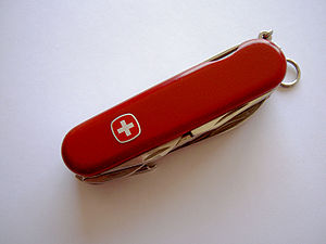 Wenger Swiss Army knife, closed