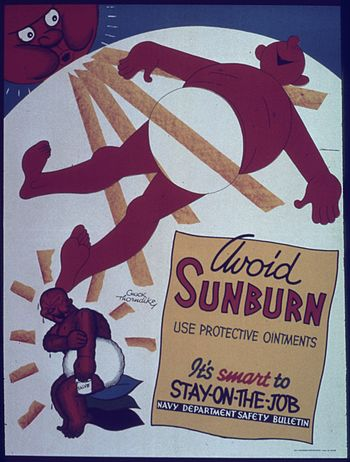 """""""Avoid sunburn"""" - NARA - 513898"""