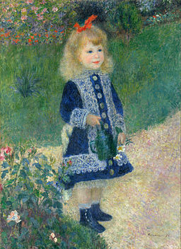 Auguste Renoir - A Girl with a Watering Can - Google Art Project