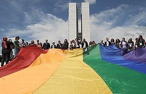 Bandeira LGBT no Congresso Nacional do Brasil