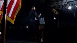 President Barack Obama speaks about the US mor...