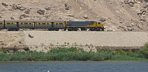 English: Egyptian National Railways train with...