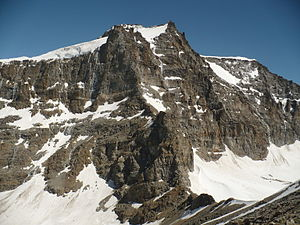 English: Gran Paradiso summit and Cresta Gasta...