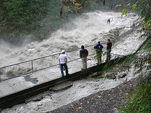 Stillaguamish River (South Fork) flood at Gran...